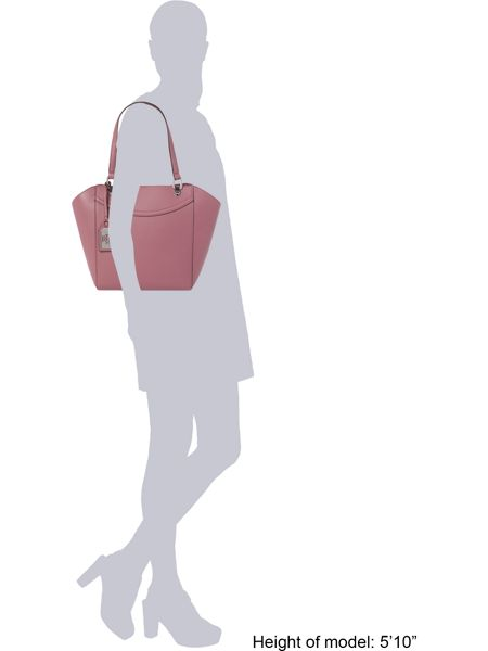 Lauren Ralph Lauren Lexington light pink shoulder tote bag