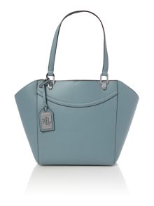 Lauren Ralph Lauren Lexington light blue shoulder tote bag