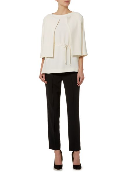 Marella Arlette 3/4 sleeve fitted cropped jacket