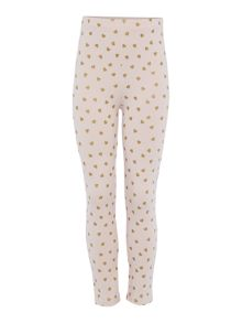 Little Dickins & Jones Girls Heart print leggings