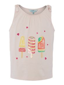 Little Dickins & Jones Girls Sequin ice lollies vest