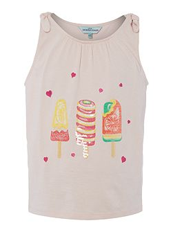 Girls Sequin ice lollies vest