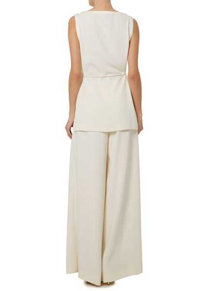 Marella Riber long length tie waist top