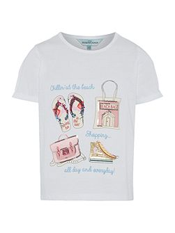 Girls Going to the beach sequin tee