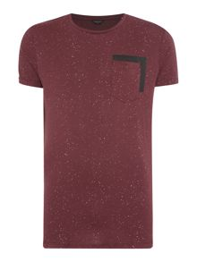 Pocket Fleck Short Sleeve T-shirt