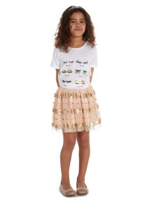 Little Dickins & Jones Girls Eyelash tee