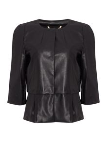 Marella Ieri long sleeve jacket with waisted detail