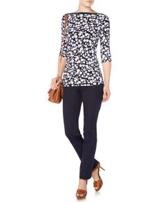 Lauren Ralph Lauren Aveley floral print top with boat neck