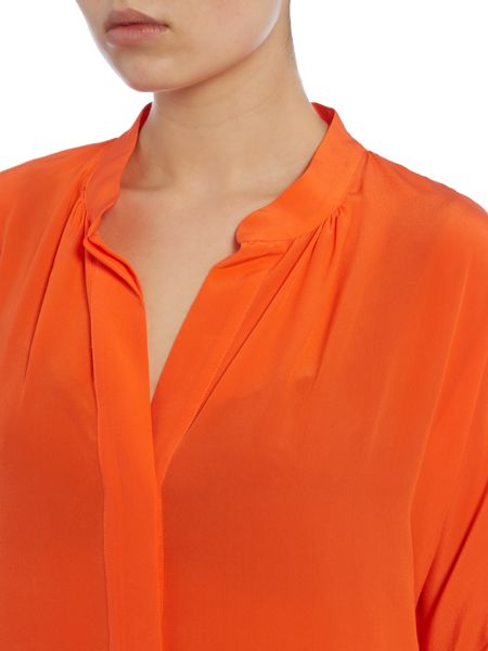 Lauren Ralph Lauren Bridney collarless silk blouse
