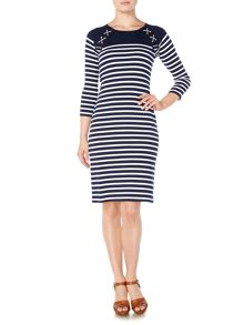 Lauren Ralph Lauren Kulak nautical stripe dress
