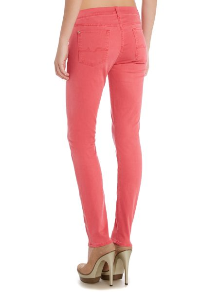 7 For All Mankind Slim illusion mid rise skinny jean in fuschia