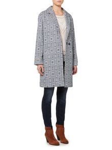 Linea Weekend Driftwood jacquard coat