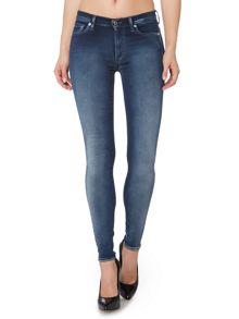 7 For All Mankind Slim illusion highwaist skinny jean in mid indigo