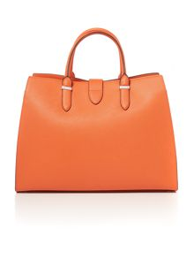 Charleston orange large tote bag