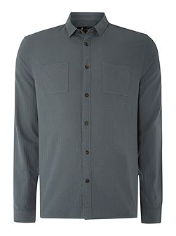 Terence Herringbone Long Sleeve Shirt