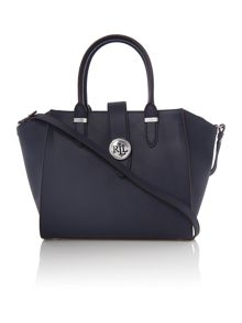 Lauren Ralph Lauren Charleston navy medium crossbody tote bag