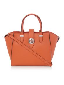 Charleston orange medium crossbody tote bag