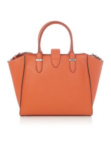 Lauren Ralph Lauren Charleston orange medium crossbody tote bag