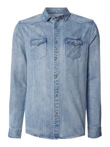 Label Lab Adwin Bleached Denim Shirt