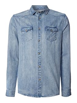 Adwin Bleached Denim Shirt
