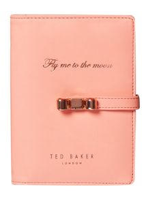 Ted Baker Light orange document holder with pen