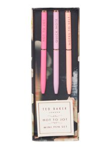 Pink mini pen set