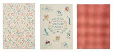 Dickins & Jones Farmers market set of 3 tea towels