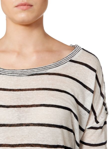 Linea Weekend Thick stripe ls jersey top