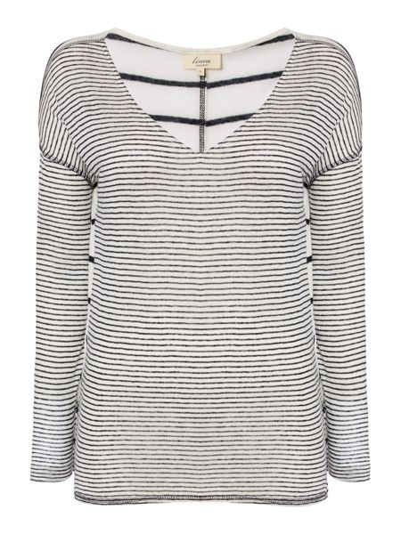 Linea Weekend Mini stripe ls jersey top