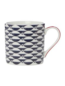 Linea Regatta Fish Mug