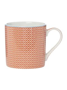 Linea Orange Geometric Mug