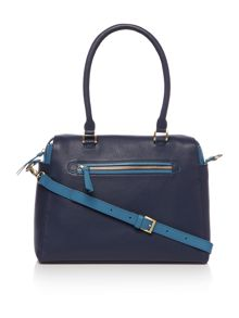 Agnes large cross body bowler handbag