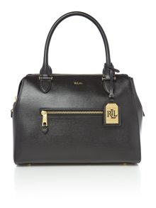 Lauren Ralph Lauren Newbury black small pocket bowling bag