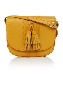 Dickins & Jones Seaton tassel saddle crossbody bag