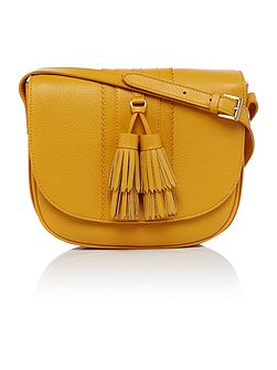 Seaton tassel saddle crossbody bag