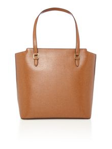 Lauren Ralph Lauren Newbury tan pocket tote shoulder bag
