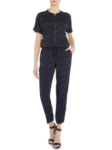 Lee Printed tie waist jumpsuit