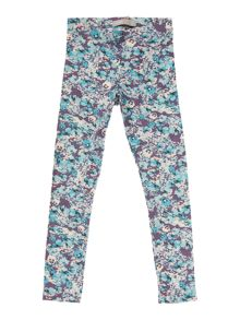 Girls Digital printed floral legging