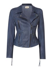 Linea Weekend Driftwood leather biker jacket
