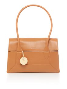 Radley Border tan medium flap over tote bag