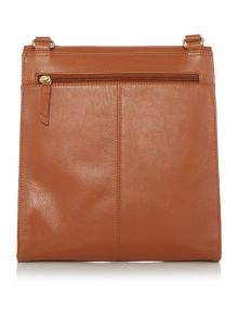 Radley Border tan large flap over crossbody bag