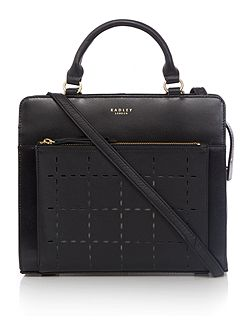 Clerkenwell punch black medium multiway bag