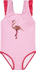 Little Dickins & Jones Girls Flamingo swimsuit