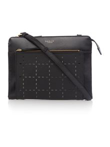 Clerkenwell punch black medium cross body bag
