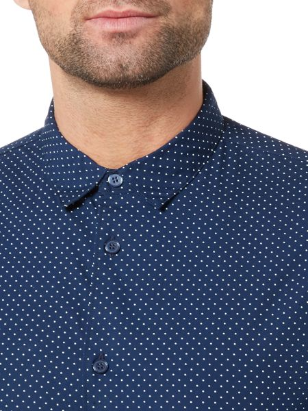 Linea Lee Square Polka Dot Short Sleeve Shirt