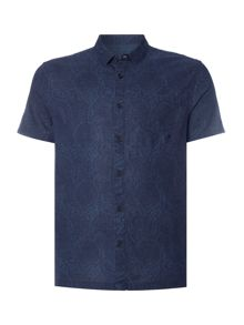 Label Lab Brisk Swirl Printed Linen Shirt