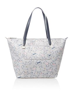Pocket essentials grey large tote bag