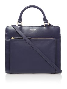 Clerkenwell navy medium multiway bag