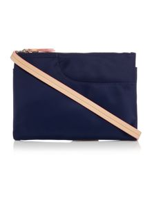 Pocket essentials navy medium cross body bag