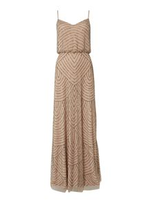 Art deco beaded blouson dress